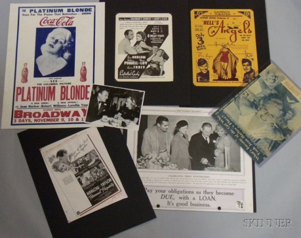 6A: Group of Jean Harlow Related Collectibles and Ephem