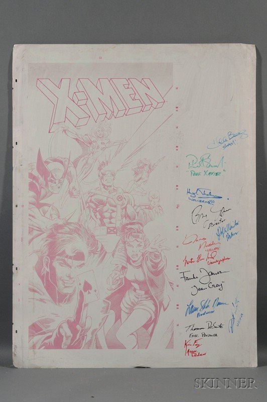 7: X-Men (2000) Movie Autographed Metal Offset Comic Po