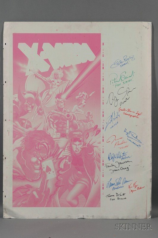 16: X-Men (2000) Movie Autographed Metal Offset Comic P
