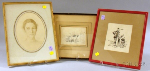 511A: Two Framed Works on Paper, including a print on p