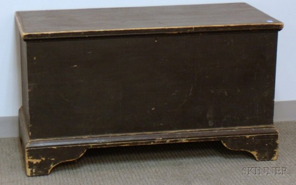 514: Black-painted Pine Blanket Chest, lg. 40 1/4 in.