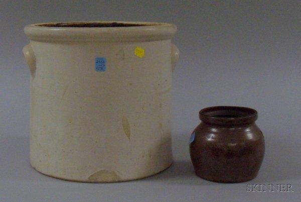 "517A: ""E. Midy Brothers, Woonsocket"" Glazed Stoneware B"