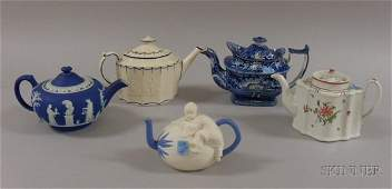 788: Five Assorted English and European Ceramic Teapots