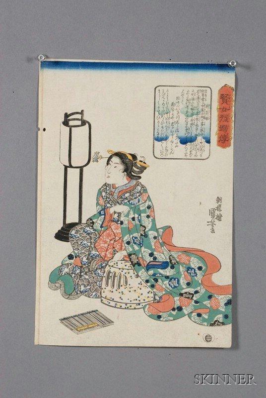 1: Kuniyoshi: Princess Izutsu, (very good impression, c