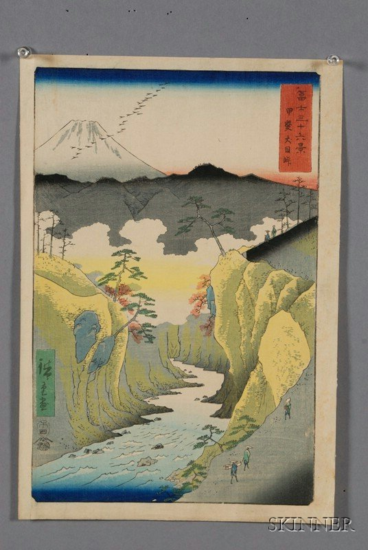 4: Seven Prints by Hiroshige, including prints from Fif