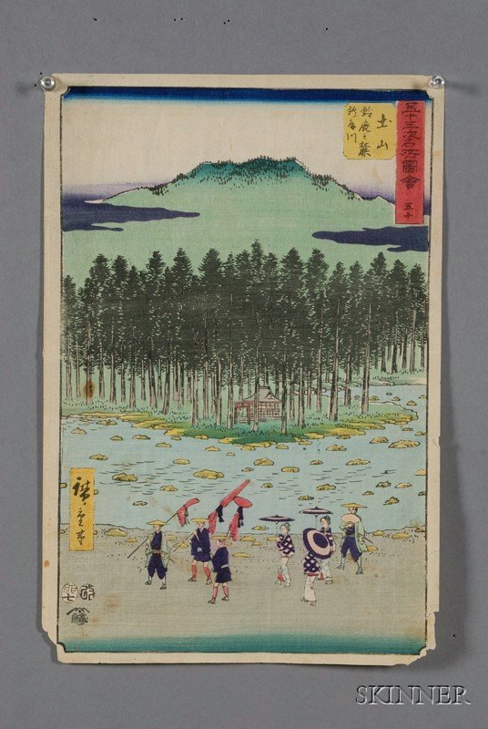 5: Seven Prints by Hiroshige, including prints from Fif