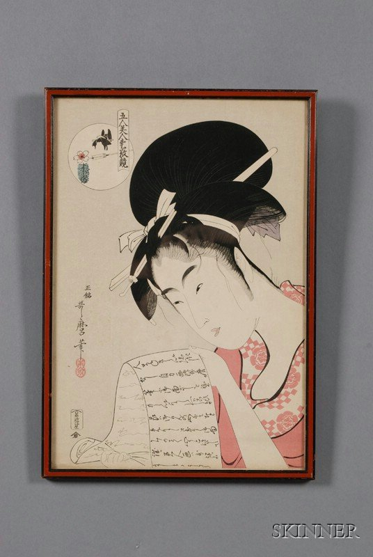 8: Two Japanese Woodblock Prints, a later copy of an ok