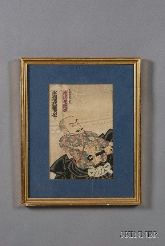 11: Japanese Woodblock Print, a Kabuki actor print or p