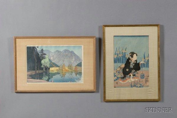 18: Two Japanese Woodblock Prints, Hodokazuma by Yoshid