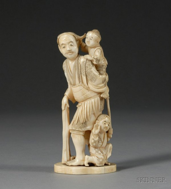 287: Ivory Carving, Japan, late 19th century, study of