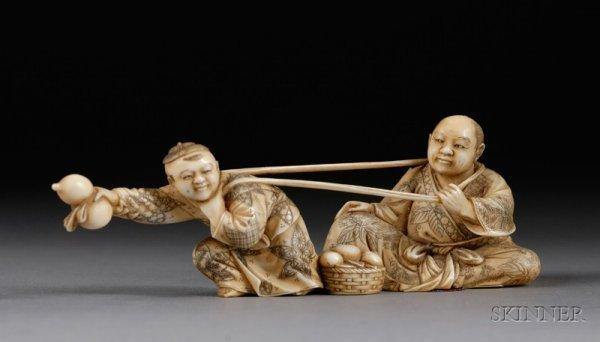 288: Ivory Carving, Japan, 19th century, figure of a ma