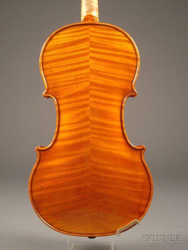 365: Modern German Violin, Joseph Kantuscher, 1998, lab - 2