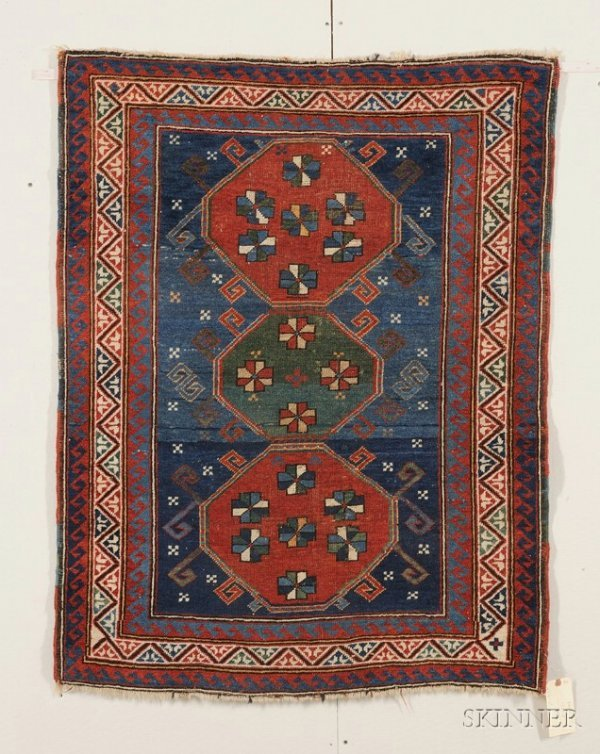8: Kazak Rug, Southwest Caucasus, late 19th century, (s