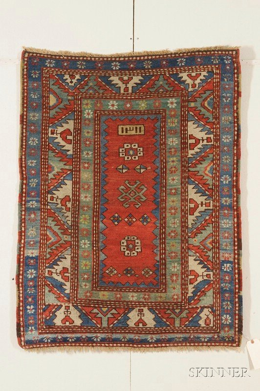 9: Fachralo Kazak Rug, Southwest Caucasus, dated 1893,