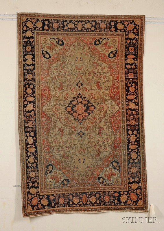 15: Motasham Kashan Rug, Central Persia, late 19th cent