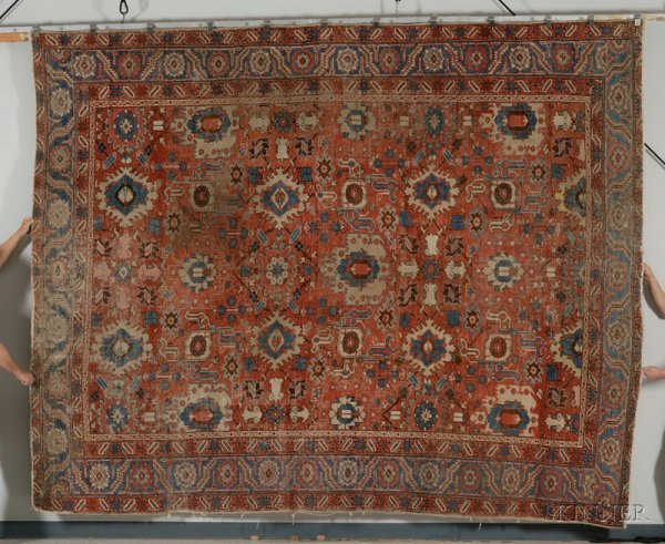 21: Heriz Carpet, Northwest Persia, late 19th century,