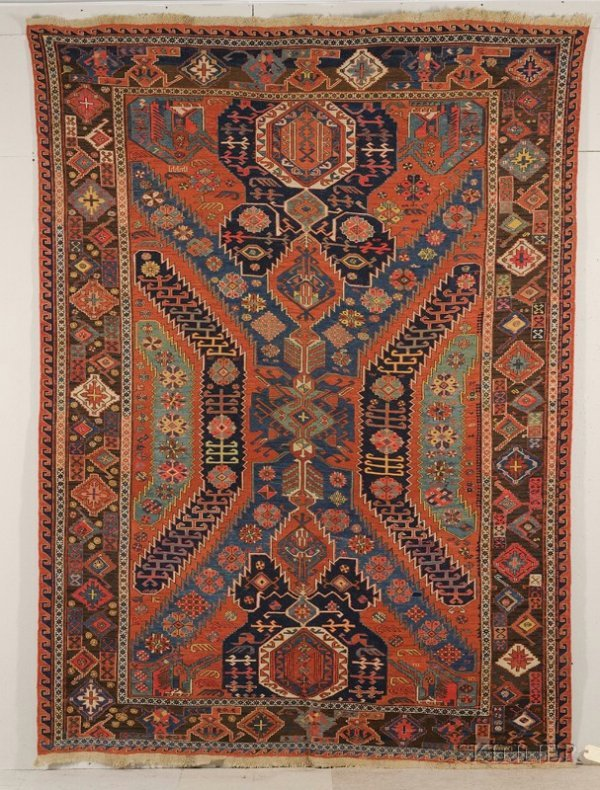 117: Dragon Soumak Carpet, Northeast Caucasus, last qua