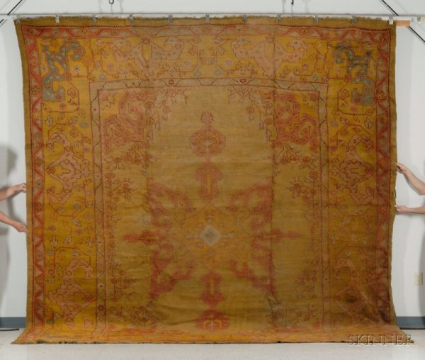 136: Ushak Carpet, West Anatolia, late 19th century, (e