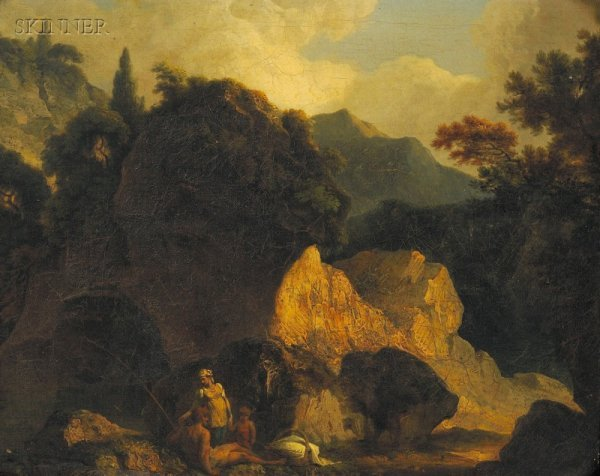2: Continental School, 18th/19th Century Landscape with