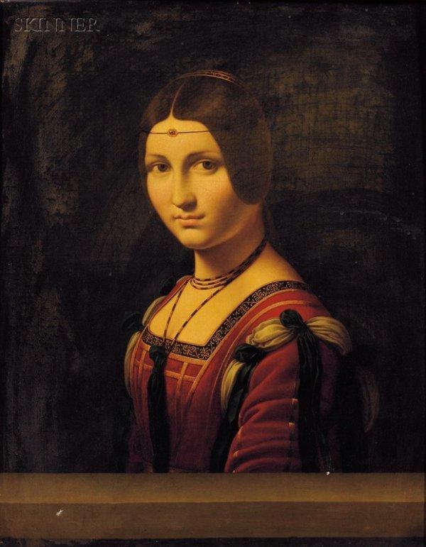 5: After Leonardo da Vinci (Italian, 1452-1519) Portrai