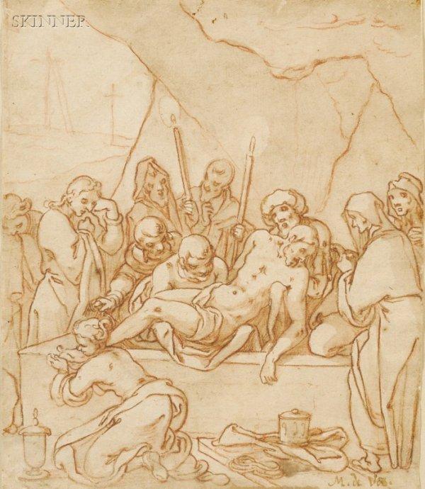 6: Manner of Martin de Vos (Flemish, 1532-1603) Entombm