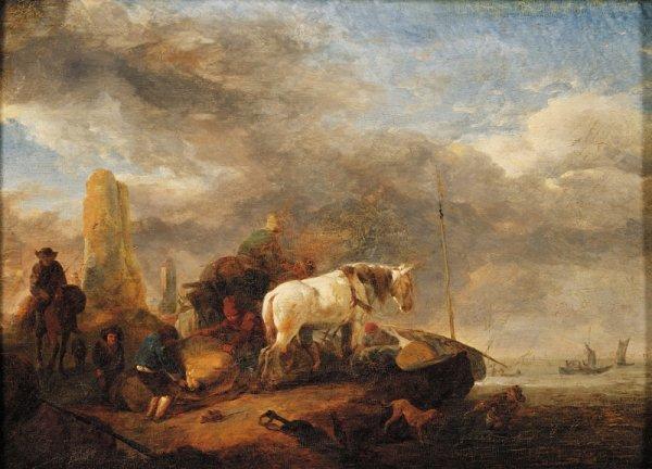 12: Manner of Jan Wouwerman (Dutch, 1629-1666) Loading
