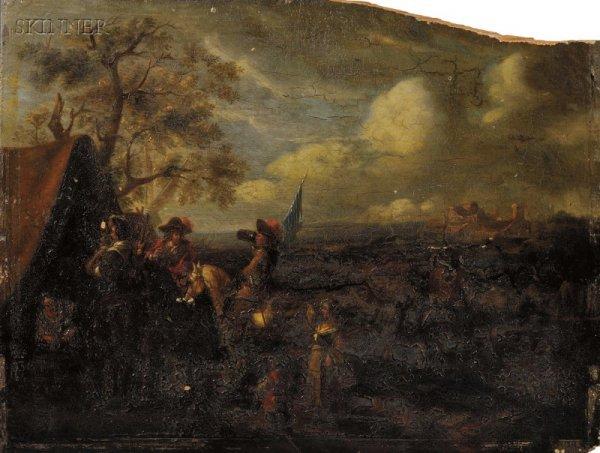 14: Manner of Philips Wouwerman (Dutch, 1619-1668) At C