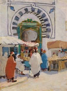 160: Jane Peterson (American, 1876-1965) Arabian Market