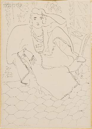 359: Henri Matisse (French, 1869-1954) Seated Woman in