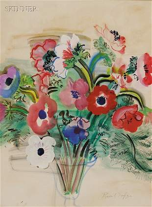 362: Raoul Dufy (French, 1877-1953) Anemones, c. 1938 S