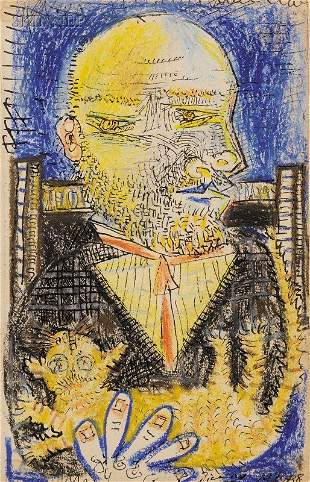 378: Pablo Picasso (Spanish, 1881-1973) Portrait of Amb