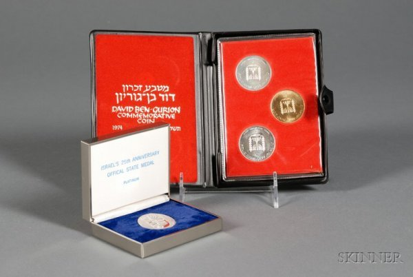 48: Israel 25th Anniversary Platinum State Medal, one t