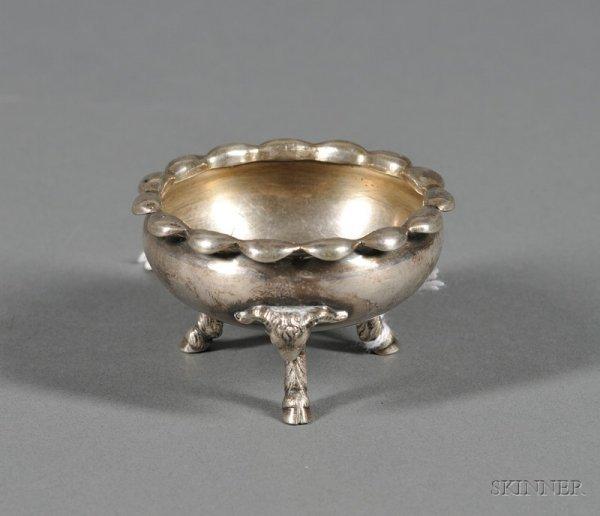 85: Silverplated Dish for Passover Haroset, circular di
