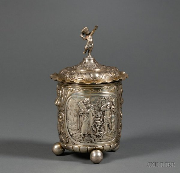 86: German Gold-washed Silver Covered Cup, maker and ci