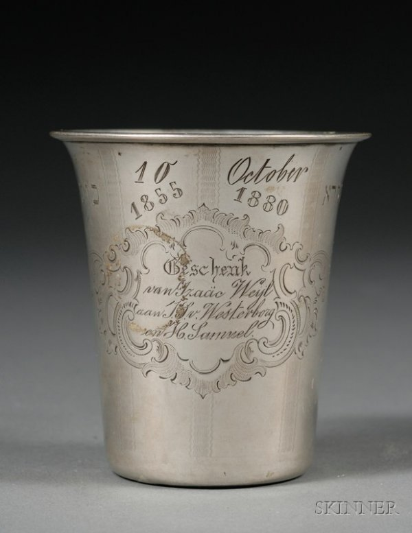 91: Austro-Hungarian Silver Kiddush Cup, mid-19th centu
