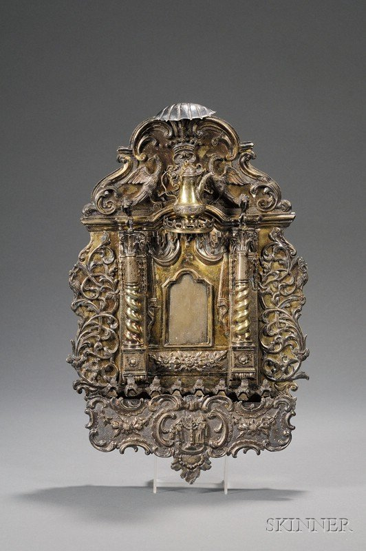 178: Important Silver and Silver-gilt Synagogue Ark-for