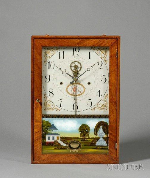 1: Mahogany and Cherry Outside Escapement Box Clock Att