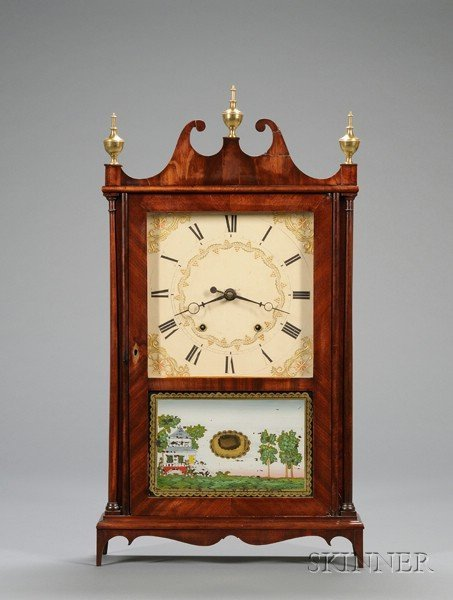 3: Mahogany Pillar and Scroll Clock by Eli & Samuel Ter