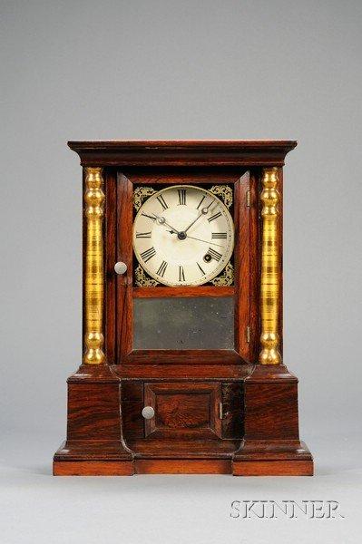 "4: Rosewood ""London Mantel"" Eight-Day Chronometer Shelf"