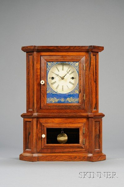 """5: Rosewood """"Parlor No. 1"""" 30-Day Fusee Shelf Clock by"""