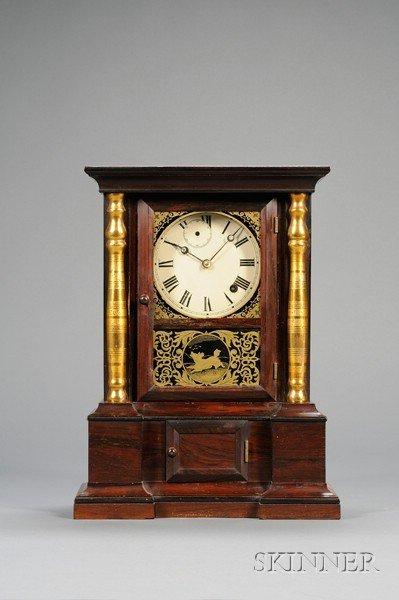 "6: Rosewood ""London Mantel"" Eight-Day Fusee Shelf Clock"