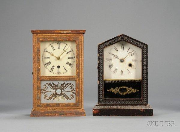 8: Two Miniature 30-Hour Cottage Clocks, S.B. Terry, Te