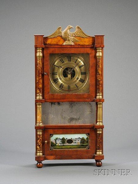 11: Miniature Triple-Decker Shelf Clock by Birge, Mallo