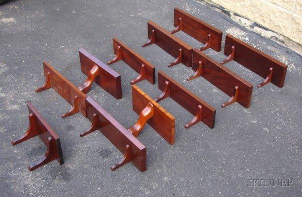 13: Lot of Eleven Mahogany Shelves of Various Designs,