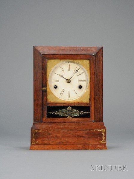14: Rosewood Cottage Clock, J. J. Beals & Co., Haymarke