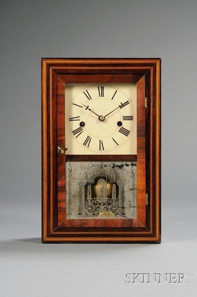15: Rosewood Shelf Clock by Elisha Manross, Bristol, Co