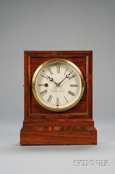 "17: Rosewood ""Kirk's Patent"" Shelf Clock, by Marine Clo"