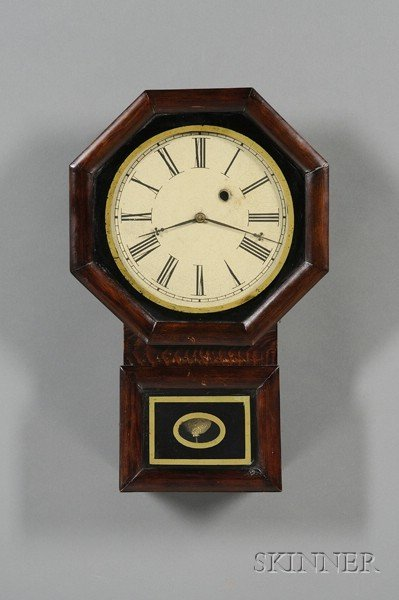 18: Pine Drop Octagon Wall Clock by Chauncey Jerome, Ne