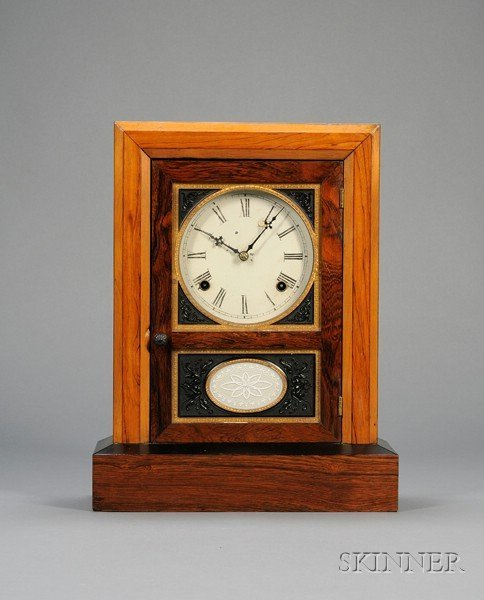 19: Rosewood Shelf Clock by Jerome & Company, New Haven