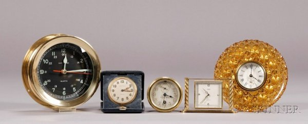 26: A Varied Group of Five Timepieces, including a 7 in